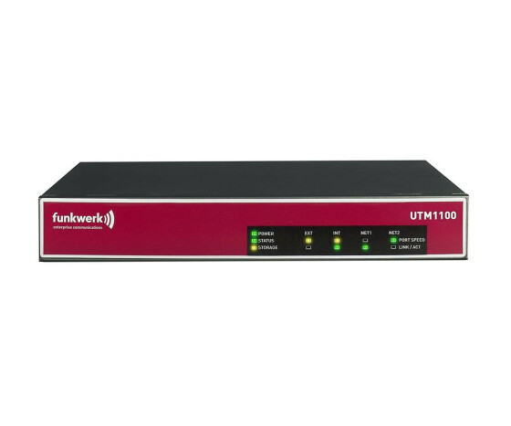 Funkwerk UTM 1100 Appliance - Security appliance - 4 ports - 10 users - EN, Fast EN