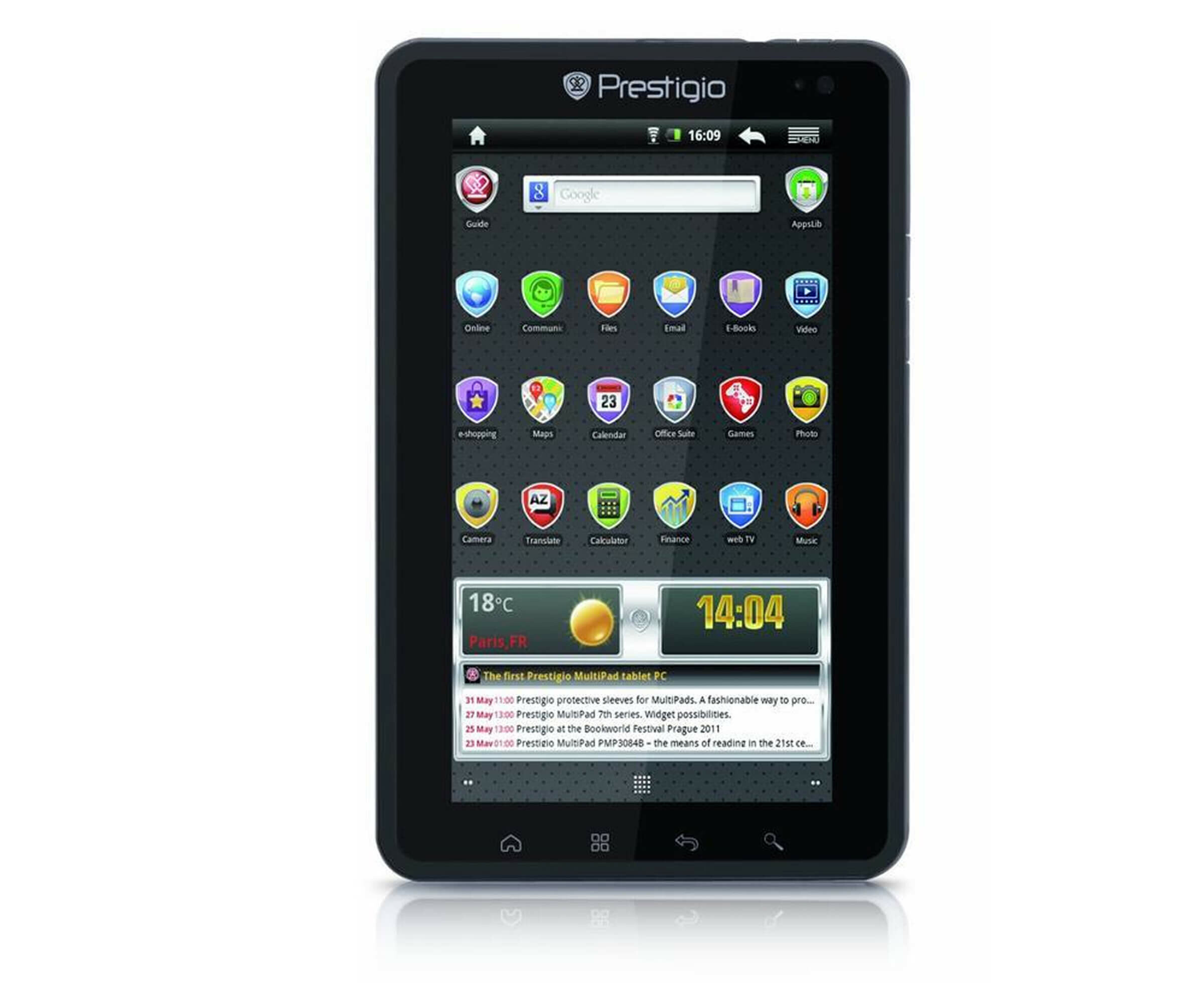 Tablets, Tablet PCs - Prestigio MultiPad PMP7074B3G PRO Tablet Android 4 GB 17.8 cm 7' TFT 800 x 480  - Onlineshop Noteboox.de