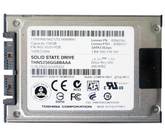 Toshiba SSD THNS256GG8BAAA - Solid-State-Disk SSD - 256 GB - 1.8 - SATA
