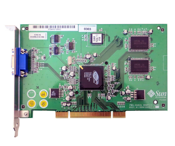 Sun X3768A - PGX64 8/24 bit Color Frame Buffer - 370-4362 - Graphics Card
