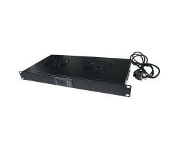 LogiLink FAU02FB - Fan panel - Black - Steel - 1U - 48.3...