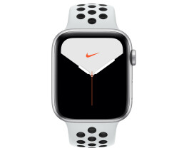 Apple Watch 5 44mm Sil Alu Case w/Platinum/Black Nike LTE