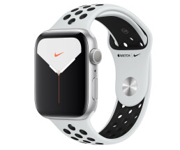 Apple Watch 5 44mm Sil Alu Case w/Platinum/Black Nike