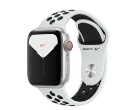 Apple Watch 5 40mm Sil Alu Case w/Platinum/Black Nike LTE