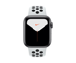 Apple Watch 5 40mm Sil Alu Case w/Platinum/Black Nike+