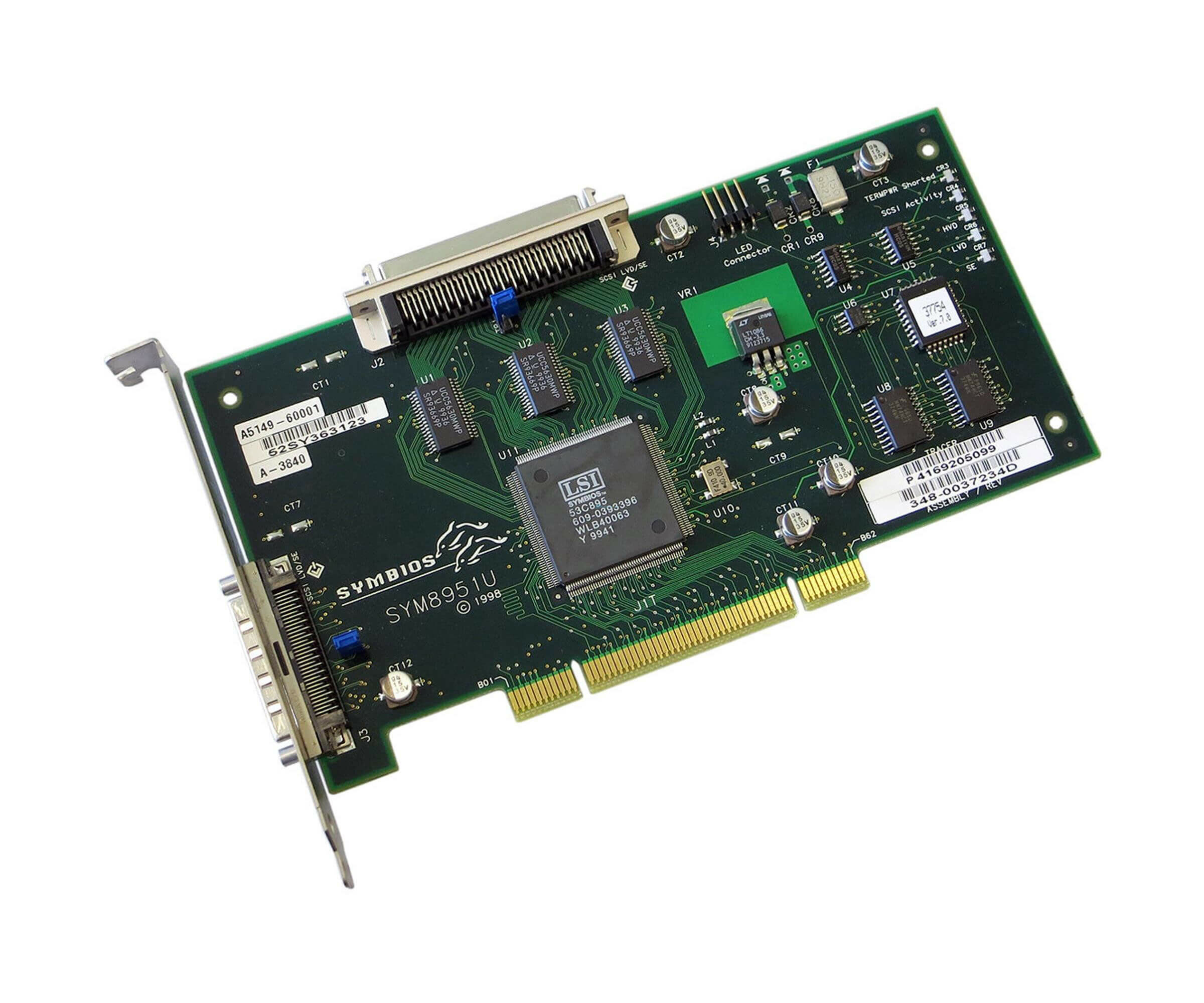 HP A5149-60001 - PCI Ultra2 Single Channel LVD/SE SCSI Adapter