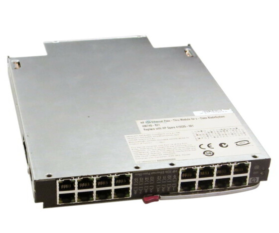 HP 406738-001 - 1Gb Ethernet Pass-Thru Modul - für HP c-Class 7000 Series Blade System