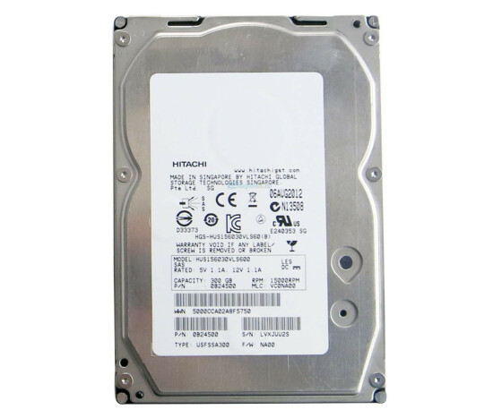 Hitachi Ultrastar 15K600 - HUS156030VLS600 - Hard Drive - 300 GB - 15000 rpm - SAS