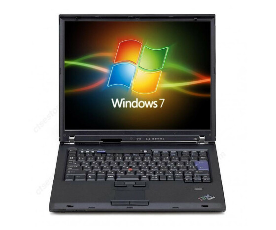 IBM T60 - Core Duo T2400 1,83GHz - 2GB Ram - 80GB Festplatte - DVD+-RW - Windows 7
