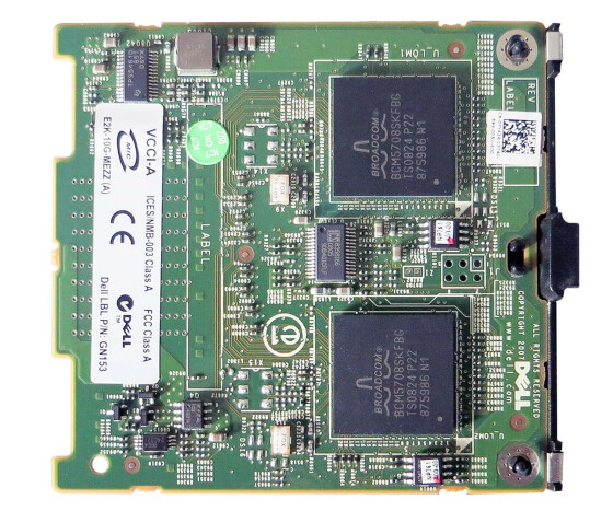 Dell BCM5708 - 2-port Gigabit-Ethernet Mezzanine Karte - für Dell PowerEdge M600