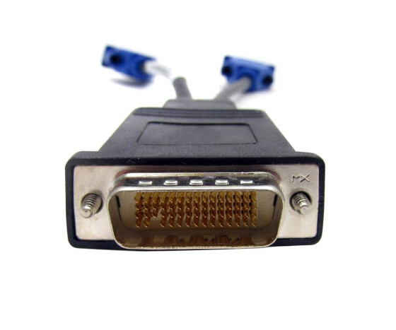 Y-CABLE DMS-59 to 2 (DUAL) VGA Splitter HP 338285-008 - Used