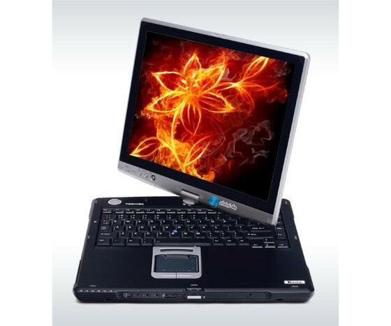 Notebook Toshiba Tecra M4 Intel Pentium M 750 1,86 MHz 1GB DDR2 60GB Sata DVD-RW + Stift + Dockingstation Gebraucht