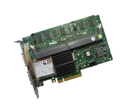 Dell J155F - PERC 6/E Dual Channel 512 MB SAS/PCI-E RAID...