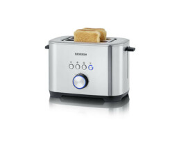 Severin at 2510 toaster stainless steel with bagel function