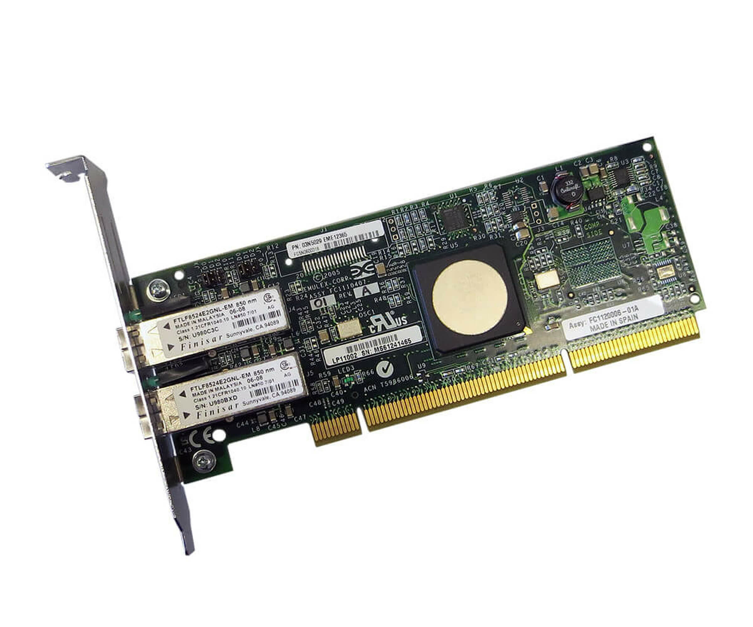 IBM 8XXX-5759 - Dual-Port 4 GB/s Fibre Channel PCI-X Host Bus Adapter - 03N5029
