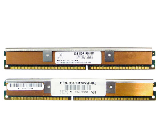 IBM - 36P33377 - DDR - 4GB (2x2GB) - RDIMM 184-PIN - 400 MHz / PC3200R - ECC - KIT
