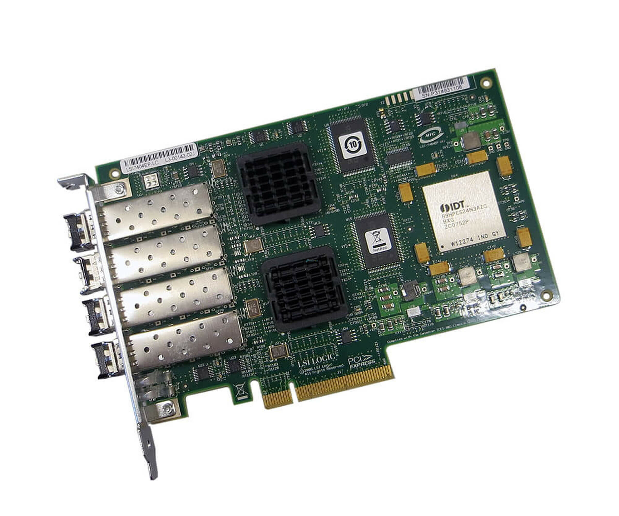 NetApp X2054B-R6 - Quad-Channel 4Gb/s Fibre Channel PCI-E Netzwerkadapter