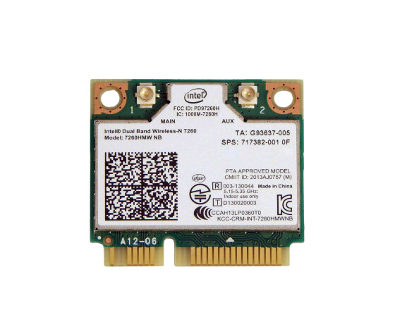 Intel - 717382-001 - WLAN-Karte 7260HMW NB - Dual Band...