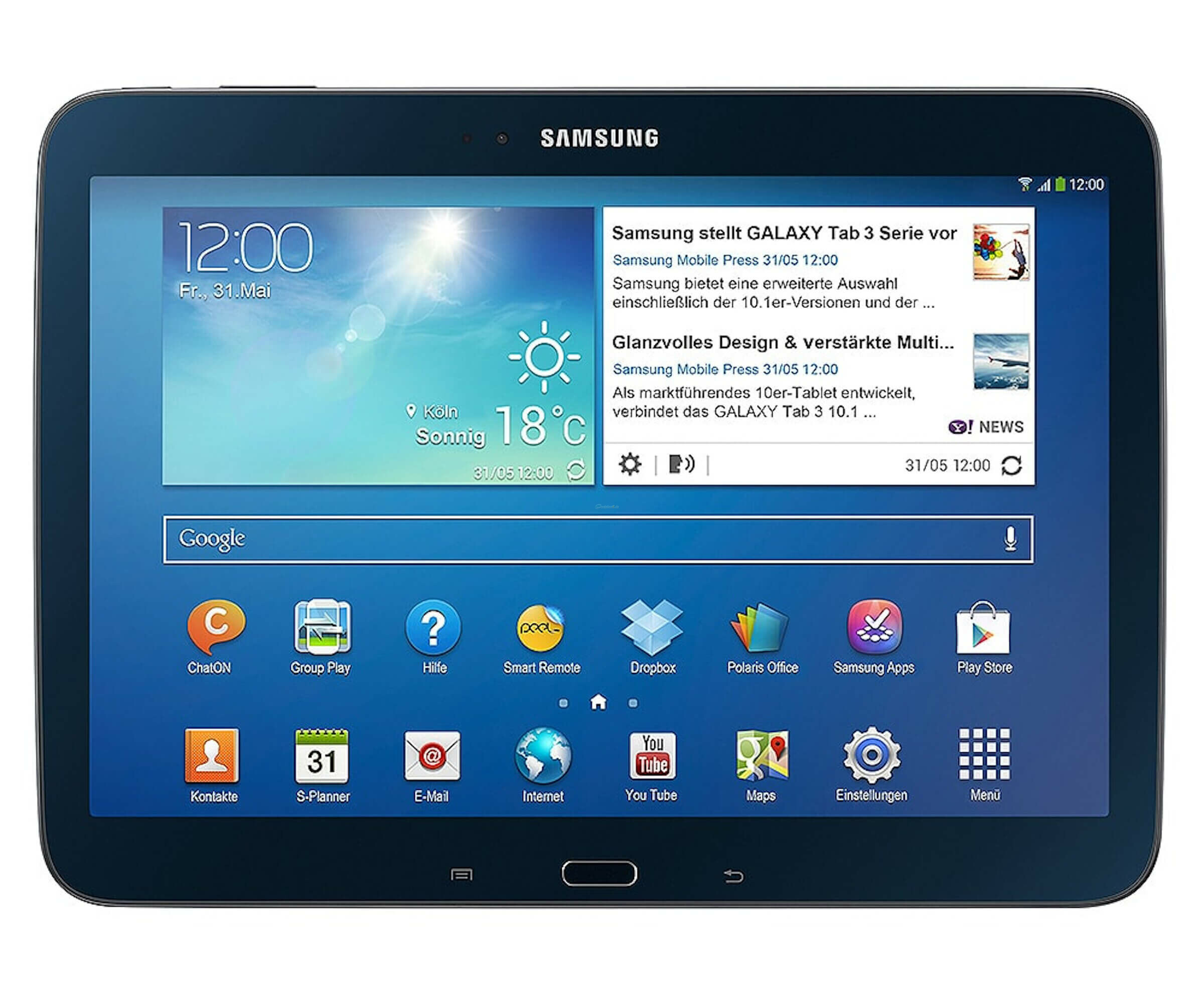 Samsung Galaxy Tab 3 - Tablet - Android 4 - 16 GB - 25.7 cm ( 10.1 ) - Multi-Touch