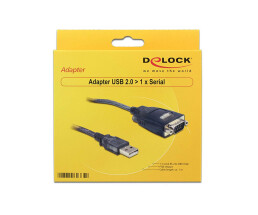 DeLock Adapter - 61364 - USB 2.0 Typ-A zu Seriell DB9 RS-232 - Länge: 1m