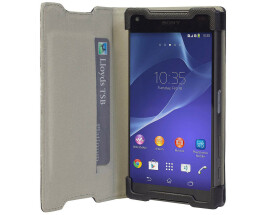 Krusell Malmo - for Sony Xperia Z5 Compact - Folio Case - black - 60407 / A