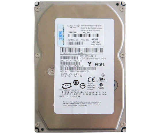 "IBM 44X2450 - Hard Drive - 450 GB - 15000 rpm - 3.5 ""- Fiber Channel"
