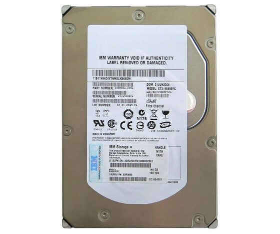 "IBM 23R2235 - Hard Drive - 146 GB - 15000 rpm - 3.5 ""- Fiber Channel"