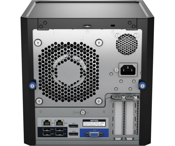HPE ProLiant MicroServer Gen10 Entry - Server - Ultra-Micro-Tower - 1-Weg - 1 x Opteron X3216 / 1.6 GHz - RAM 8 GB - kein HDD - GigE - Monitor: keiner