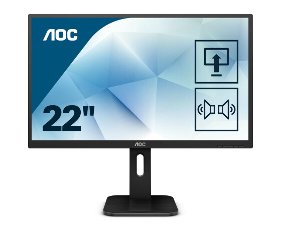 AOC 22P1D - LED-Monitor - 54.6 cm (21.5) - 1920 x 1080 Full HD (1080p) - TN - 250 cd/m² - 1000:1 - 2 ms - HDMI, DVI, VGA - Lautsprecher
