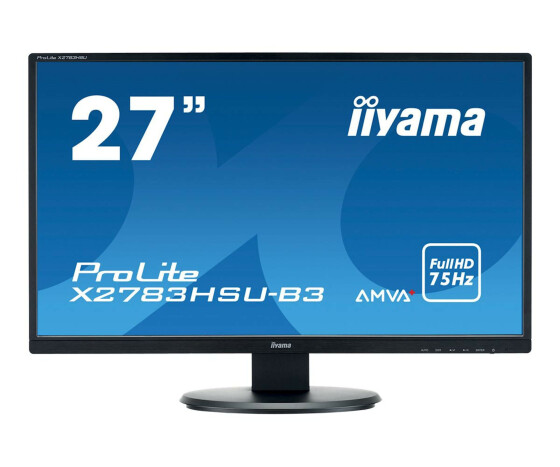 Iiyama ProLite X2783HSU-B3 - LED-Monitor - 68.6 cm (27) - 1920 x 1080 Full HD (1080p) - A-MVA+ - 300 cd/m² - 3000:1 - 4 ms - HDMI, VGA, DisplayPort - Lautsprecher - Schwarz