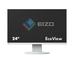 "EIZO FlexScan EV2450-WT - LED-Monitor - 60 cm (23.8"") - 1920 x 1080 Full HD (1080p) - IPS - 250 cd/m² - 1000:1 - 5 ms - HDMI, DVI-D, VGA, DisplayPort - Lautsprecher - weiß"
