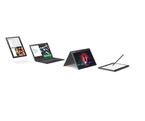 Lenovo Yoga Book C930 ZA3S - Tablet - Flip-Design - Core i5 7Y54 / 1.2 GHz - Win 10 Home 64-Bit - 4 GB RAM - 256 GB SSD - 27.43 cm (10.8) IPS Touchscreen 2560 x 1600 (WQHD) - HD Graphics 615 - Wi-Fi, Bluetooth - Iron Gray