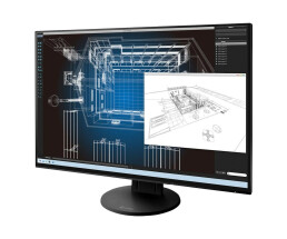 "EIZO FlexScan EV2456-BK - LED-Monitor - 61.1 cm (24.1"") - 1920 x 1200 - IPS - 350 cd/m² - 1000:1 - 5 ms - HDMI, DVI-D, VGA, DisplayPort - Lautsprecher - Schwarz"