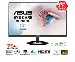 "ASUS VZ249HE - 60.5 cm (23.8"") - 1920 x 1080 pixels - Full HD - LED - 5 ms - Black"