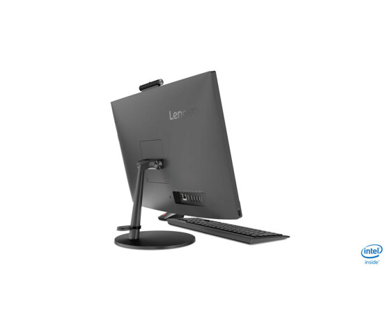 Lenovo V530-24ICB 10UW - All-in-One (Komplettlösung) - mit Monitorständer - 1 x Core i3 8100T / 3.1 GHz - RAM 8 GB - SSD 256 GB - NVMe - DVD-Writer - UHD Graphics 630 - GigE - WLAN: Bluetooth 4.0, 802.11a/b/g/n/ac - Win 10 Pro 64-Bit - Monitor: LED 60.45