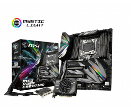 MSI MEG X299 Creation EATX motherboard socket 2066 USB3.1 (type C-Gen2) /M.2/WLAN/BT - Motherboard - Intel Socket 2066 (Kaby Lake X)