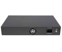 8-port Gigabit PoE + Switch 2xRJ45 uplink LCD