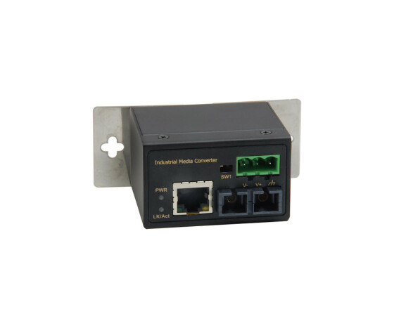 LevelOne RJ45 to SC Fast Ethernet Industrial Media Converter - Multi-Mode Fiber - 2km - -40°C to 75°C - 100 Mbit/s - 10Base-T,100Base-TX - 100Base-FX - IEEE 802.3,IEEE 802.3u,IEEE 802.3x - Fast Ethernet - 10,100 Mbit/s