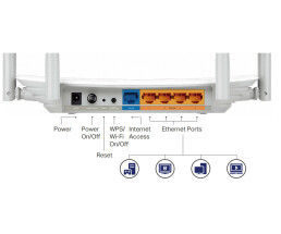 TP-LINK Archer C50 - V3.0 - Wireless Router - 4-Port-Switch