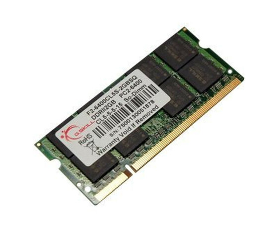 G.Skill SQ Series - DDR2 - 2 GB - SO DIMM 200-PIN - 800 MHz / PC2-6400 - CL5 - 1.8 V - ungepuffert - non-ECC