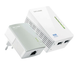 TP-LINK TL-WPA4220KIT AV500 2-Port Wifi Powerline Adapter...