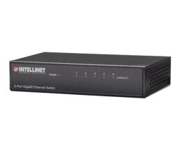 Intellinet 5-Port Gigabit Ethernet Switch - Metal (Euro...