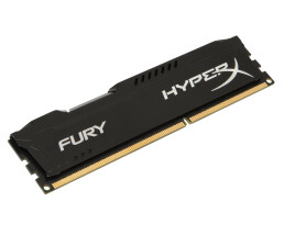 Kingston HyperX FURY Black 4GB 1600MHz DDR3 - 4 GB - 1 x 4 GB - DDR3 - 1600 MHz - 240-pin DIMM - Black