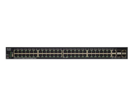 Cisco Small Business SG350X-48P - Switch - verwaltet - 48 x 10/100/1000 (PoE+) + 2 x C 10 G-Bit SFP+ + 2 x 10 Gigabit SFP+ - an Rack montierbar - PoE+ (382 W)