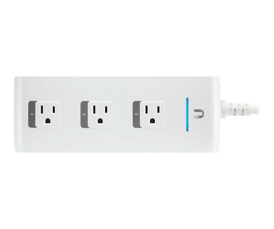 UbiQuiti Networks mPower - 3 AC outlet(s) - Indoor - White - 110 - 125 V - 50 - 60 Hz - 15 A