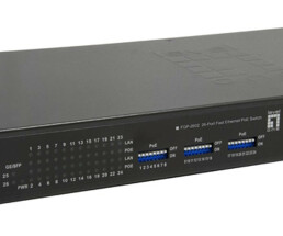 LevelOne 26-Port Fast Ethernet PoE Switch - 24 PoE Outputs - 2 x Gigabit SFP - 150W - Unmanaged - Fast Ethernet (10/100) - Full duplex - Power over Ethernet (PoE) - Rack mounting