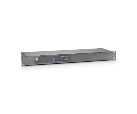 LevelOne 16-Port Fast Ethernet PoE Switch - 150W - Fast Ethernet (10/100) - Full duplex - Power over Ethernet (PoE) - Rack mounting