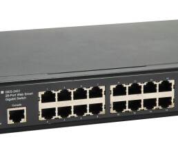 LevelOne 28-Port Web Smart Gigabit Switch - 4 x Gigabit...