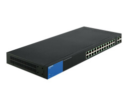 Linksys 26-Port Smart PoE+ Switch (LGS326P) - Managed - Gigabit Ethernet (10/100/1000) - Power over Ethernet (PoE) - Rack mounting