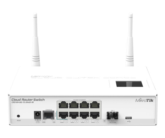 MikroTik Cloud Router Switch 109-8G-1S-2HnD-in wit - Router - Mini-PCI